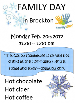 Family Day in Brockton poster, Hot Drinks by the Action Committee