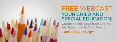 pencil crayons pictured beside Free Webcast poster