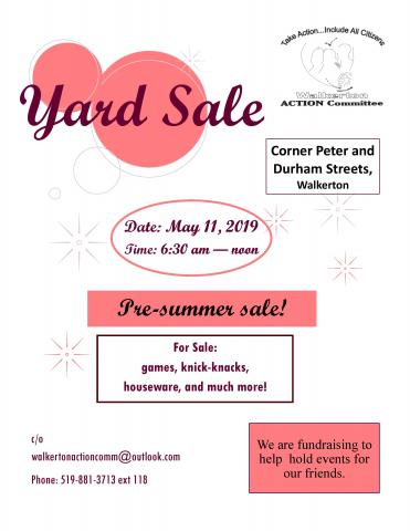 flyer for this yard sale