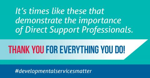 Thank you to Direct Support Professionals